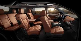 The 2018 Traverse's enhanced Smart Slide® seat allows the cur